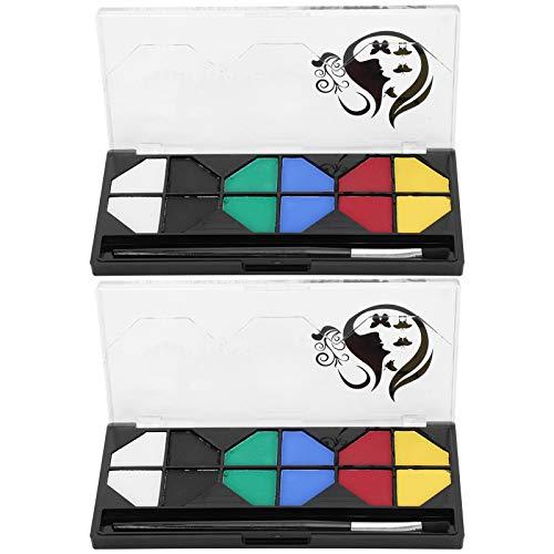 SALUTUYA Kit de Pintura Facial de 2 Juegos, 6 Colores, con Pincel para Fiestas de cumpleaños Infantiles