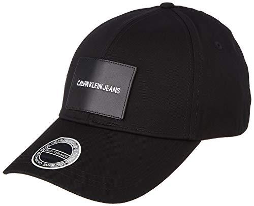 Calvin Klein Jeans Herren Patch Cap Baseballkappe, Schwarz, Einheitsgröße