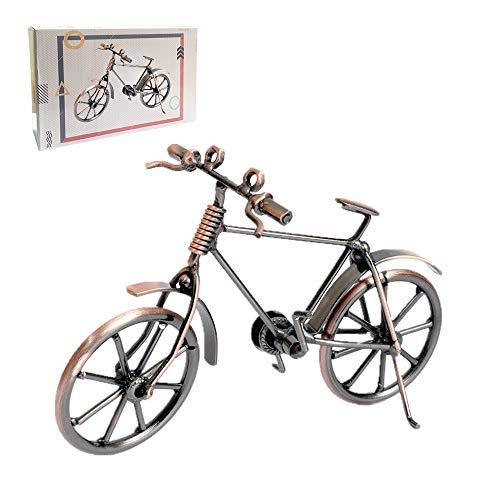 Huture Decoración para bicicleta vintage hierro arte de bicicleta metal decoración regalo bicicleta modelo coleccionista escultura o como regalo divertido adorno para el hogar u oficina