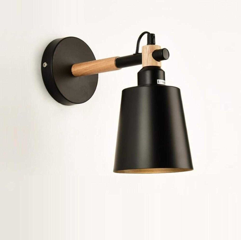 OwentsWall Lamp Nordic schwarz Aisle Wandleuchte Einfache Schlafzimmer Nachttischlampe Kreative Holz Wohnzimmer Wandleuchte Japanische Lampe