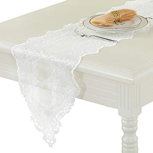 Chemin de table en dentelle, procédé de broderie utilisé pour le comptoir de bar de la table à manger de la table à manger de la table basse 8 tailles au choix (Taille : 30×280cm)
