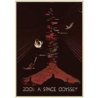 抽象22001スペースオデッセイ映画ポスタークラシック映画ポスター部屋の壁家の装飾-50x70cmx1pcsフレームなし