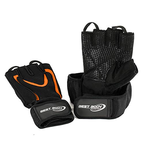 Best Body Nutrition Handschuhe Top Grip 2.0 - Schwarz/Orange - Gr. S