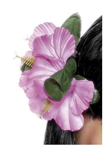 shoperama Pinza para el pelo para mujer, diseño de flores hawaianas, hibisco, joya para la cabeza, para playa, fiesta, vacaciones, color: rosa