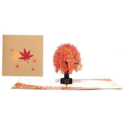 VIcoo wenskaart, 3D-kaart esdoornboom groet cadeau vakantie verjaardag wenskaarten-tool