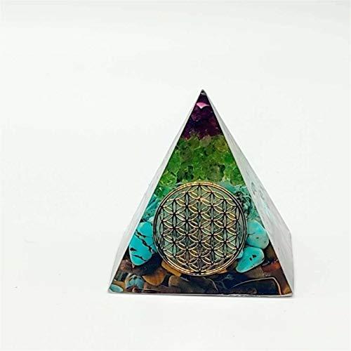 NVFED Orgonita Pyramid Natural Blanco Cristal Expele Fuerzas Evil Protector DE RADIACION PROTOMENCIA PROPORCIONADA PROMOCIÓN DE JOYERÍA DE OVIES GEOMÁTICOS (Gem Color : 4cm)