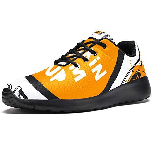 Chaussures de course TIZORAX pour hommes de la ferme biologique de la nourriture de la mode Baskets en maille respirante pour marche, randonnée, tennis - Multicolore - multicolore, 46 EU
