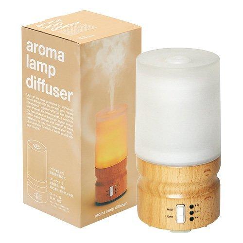 アロマランプディフューザーaroma lamp diffuer【タイマー付】【保証書付(6ヶ月)】【カラー:ナチュラルブラウン】