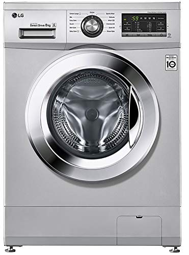 LG 8.0 kg Inverter Fully-Automatic Front Loading Washing Machine (FH2G6TDNL42, Silver, Inbuilt...