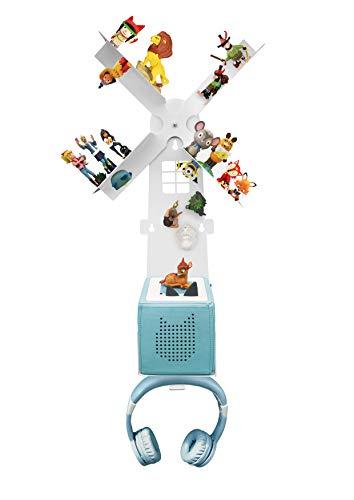 Leckerhelfer automatisch lecker Regal für die Toniebox für über 42 Tonies, Zubehör für die Tonies und Toniebox - Geeignet für über 42 Tonies - Magnetisch beliebig fixierbar - Mit Kopfhörer Halterung