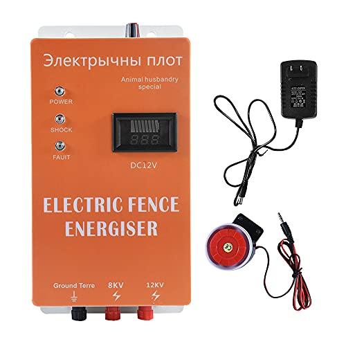 Valla eléctrica Ganado 5/10/20 KM Cargador de valla eléctrica Controlador de pulso...