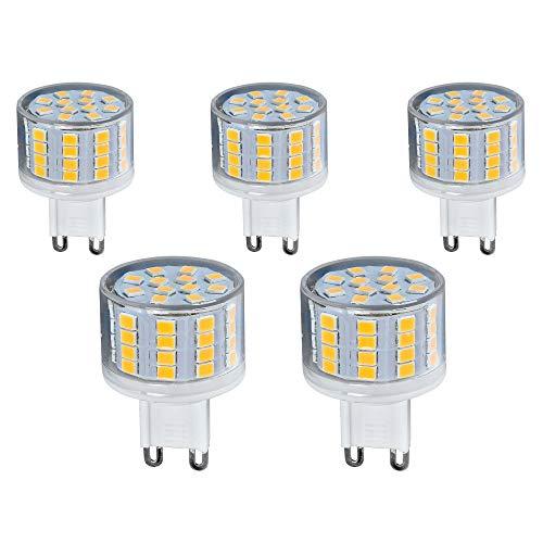 Preisvergleich Produktbild 5x G9 LED Leuchtmittel kurz 5W 230V warmweiß 3000K Lampen Stecklampe Halogen Ersatz SMD 500 Lumen 5er Pack