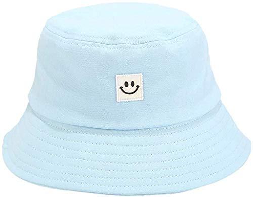JFAN Cappello Estivo da Pescatore Pieghevole, con Stampa Sorridente, Cappello da Sole da Spiaggia, Cappello da Pescatore Viola Taglia Unica