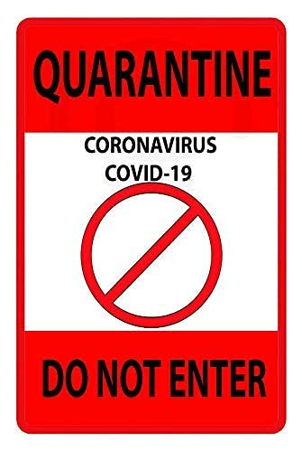 syplog Vintage Metal Sign Quarantine Virus Do Not Enter Retro Poster Plaque Tin Sign Wall Decor for Kitchen Bar Pub Farm House 20x30cm