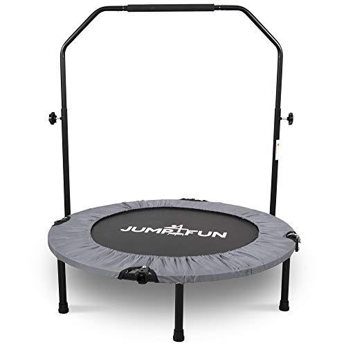 Mini Cama Elástica - Trampolín Fitness Jump4fun Plegable Doble Barra - Ø92cm