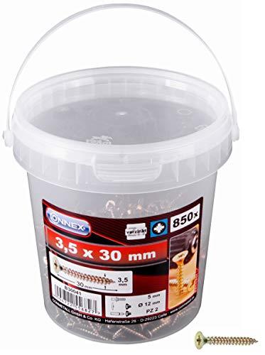 CON:P B30041 - Tornillo para madera (tamaño: 3.5x30mm, pack de 850)