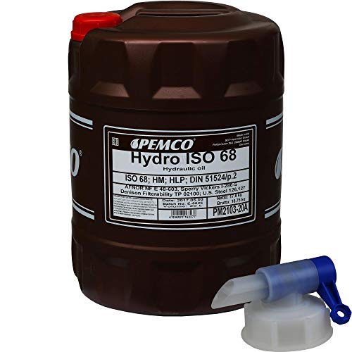 20 Liter Original PEMCO Hydrauliköl ISO 68 Hydro HLP 68 Oil inkl. Auslaufhahn