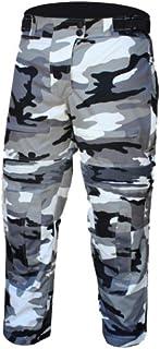 Bikers Gear Australia Men's Camo Grey Cargo Style Waterproof Textile Pants with Removable CE Armour