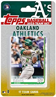Oakland Athletics 2019 Topps Factory Sealed Special Edition 17 Card Team Set with Khris Davis and Stephen Piscotty Plus