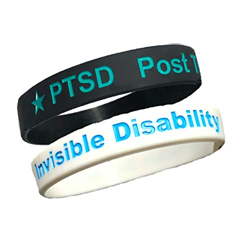PTSD and Invisible Disability Awareness Bracelets Post Traumatic Stress Disorder Silicone Wristbands