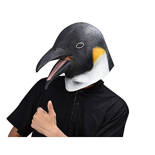 A-myt Comedia única Pingüino adgricultura máscaras brutas máscaras de Halloween Party Juego Agradable (Color : Black, Size : One Size)