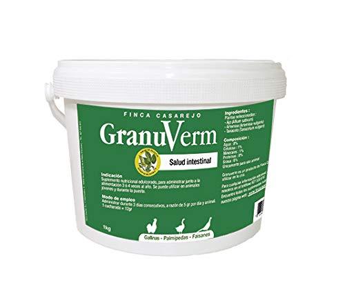 FINCA CASAREJO GranuVerm - Purga de parásitos internos (Vermes). para Patos, gallinas y faisanes (500)