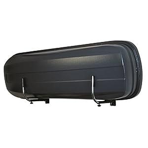 LANCO Automotive Soporte de Pared Space Pro LI-1301 (Diseño Robusto, Fácil instalación, Retráctil para Ahorrar Espacio, Made in EU) - Cromo/ Negro, Juego de 2