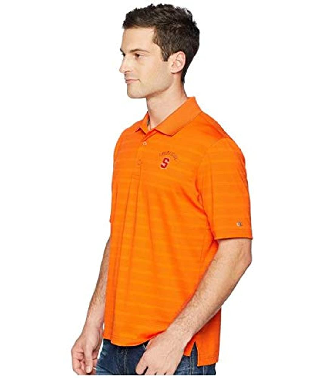 グリーンバック穀物合金Champion College Syracuse Orange Textured Solid Polo 服 MD 【並行輸入品】