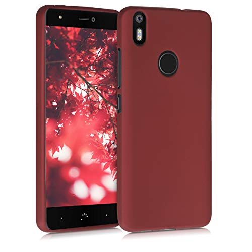 kwmobile Funda Compatible con bq Aquaris X/X Pro - Carcasa móvil de Silicona - Protector Trasero en Rojo metálico