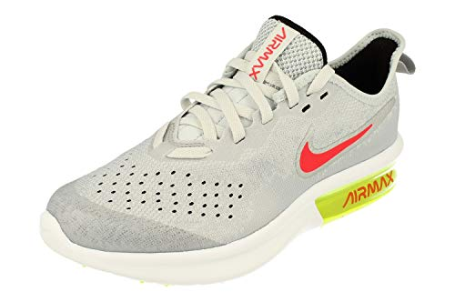 Nike Air Max Sequent 4 GS Running Trainers AQ2244 Sneakers Shoes (UK 5.5 us 6Y EU 38.5, Wolf Grey red Orbit 007)