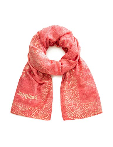 Desigual dames FOUL_GALAXY sjaal, rood (Red Ocre 3069), één maat (fabrikantmaat: U)