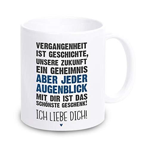 4youDesign Tasse/Kaffeebecher • Ich Liebe Dich! • - Valentinstagsgeschenk - Geschenk & Geschenkidee für sie und ihn zum Valentinstag (blau)