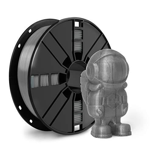 PETG Filament 1.75, 3D Printer Filament with Vacuum Sealed, Dimensional Accuracy +/- 0.02 mm, 1 kg Spool, Fit Most FDM Printer, Gray