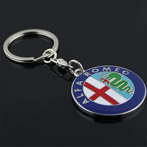 PSL Portachiavi in metallo con logo auto per Alfa Romeo