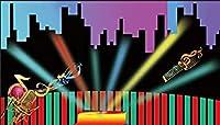 ZPC写真の背景の背景クラブパブの音楽スタジオの背景カスタムの背景抽象的な背景の女の子/男の子のベビーシャワーの背景7×5フィート