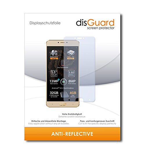 disGuard® Bildschirmschutzfolie [Anti-Reflex] kompatibel mit Allview X3 Soul Plus [2 Stück] Entspiegelnd, Matt, Antireflektierend, Extrem Kratzfest, Anti-Fingerabdruck - Panzerglas Folie, Schutzfolie