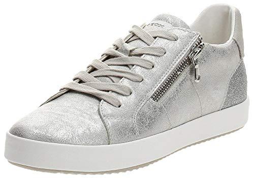 Geox D BLOMIEE A, Zapatillas Mujer, Silver, 39 EU