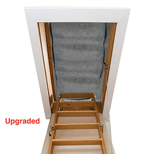 "Attic Stairs Insulation Cover - 25"" x 54"" x 11"" - R-Value of 15.4, Extra Thick Fireproof Attic Stairway Insulator"