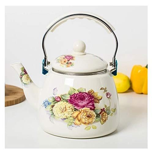 Koffie pot Thee Ketel Kachel Top Warmte en Roest Weerstand Emaille Theepot met Anti-Slip Handvat voor Huishouden Commerciële Restaurant A