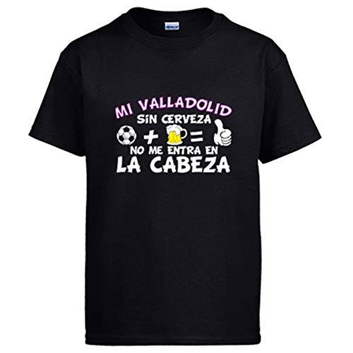Camiseta Mi Valladolid sin Cerveza no me entra en la Cabeza - Negro, XL