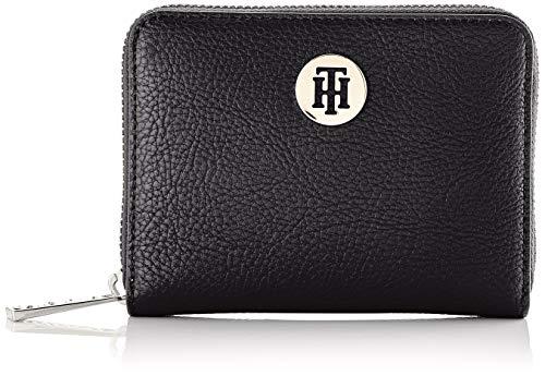 Tommy Hilfiger Damen Th Core Med Za Geldbörse, Schwarz (Black), 13 x 9,5 x 2,5 cm