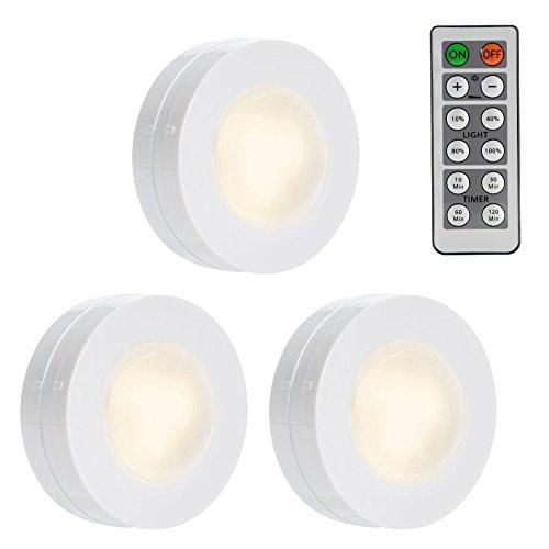Schrankbeleuchtung, Lunsy LED Schrankleuchte Nachtlicht Wandbeleuchtung mit Fernbedienung,4- dimmbares Unterschrankbeleuchtung, für Schränke Küche Schlafzimmer (warm weiß)