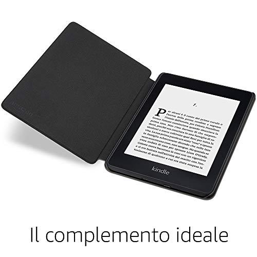 Custodia Amazon in pelle per Kindle Paperwhite (10ª generazione - modello 2018), Nero