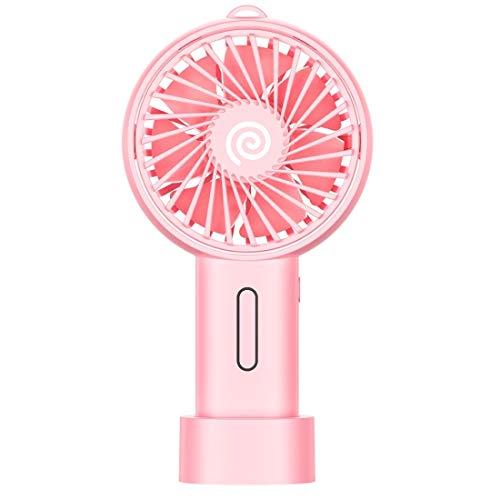 Ventilador USB Portátil Tercer Engranaje Modo de Alta Velocidad Auto Mute Ventilador de refrigeración, Ventilador eléctrico Sunshine20 (Color : Pink)