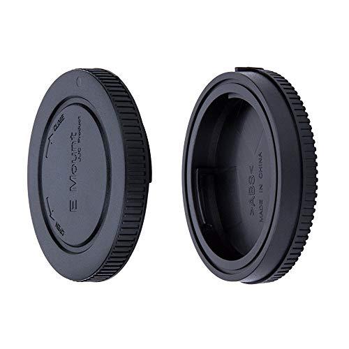 JJC Lens Posteriore Cap + Tappo Corpo per Fotocamere Sony NEX/Alpha Mirrorless e Obiettivo E Montate (1 Set)