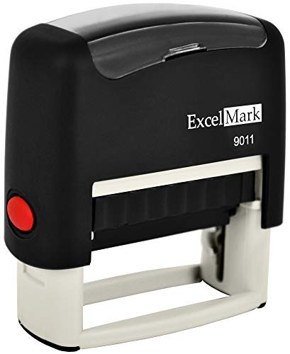 ExcelMark 3-Line Custom Self Inking Rubber Stamp - Home or Office - 9011