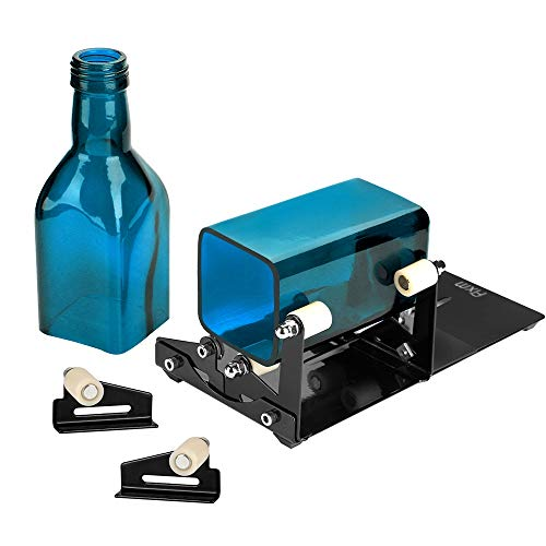 FIXM Vierkant und Rund Flaschenschneider und Flaschenhals-Schneider Set mit Zubehörwerkzeug Set, Passend für technische Verwendung, Hausdecoration, DIY für runde und quadratische Flaschen -