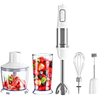 Homgeek Immersion 5-in-1 500W Hand Held Blender with 6-speed Control