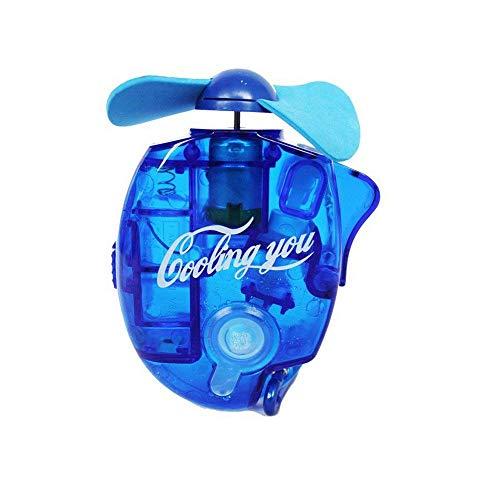 Haodou Mini Ventilador de Mano de Vapor de Agua de Niebla Alimentado por batería Mini Ventilador de Aire para el hogar de Viajes al Aire Libre (Azul)