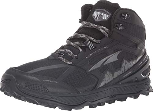 ALTRA Women's ALW1855H Lone Peak 4 Mid Mesh Trail Running Shoe, Black - 9.5 M US